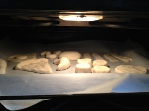 Salt Dough Food in Oven