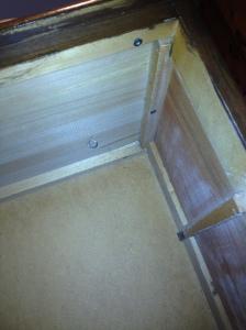 Inside brooder